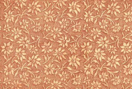 Used floral vintage wallpaper in rouge - natural grainy surface