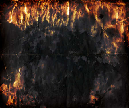 Abstract Hell - Grunge paper background - crumpled grainy surface