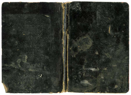 abstracto: Old Book - Grungy Black Cover - XL Size Stock Photo