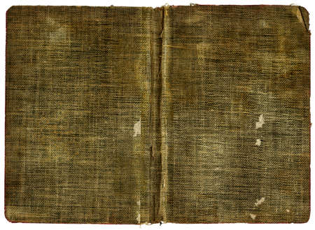 ancient book: Old Book Cover - Grungy canvas Stock Photo