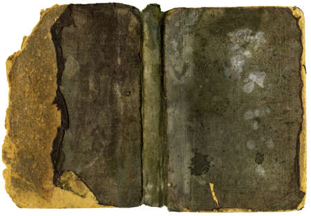 abstracto: Old Book Cover - Damaged - XL Size Stock Photo