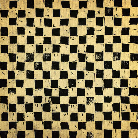 Handcrafted chessboard background, grungy surface photo