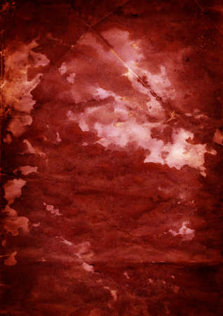 Grunge paper background - Blood 1 - crumpled grainy surface