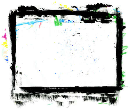 Handpainted Frame Grungy, taille XL, surface de sale Banque d'images