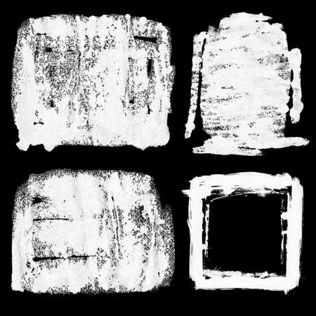 Four Grungy Frames In Grey Scale - grainy surface - xl size