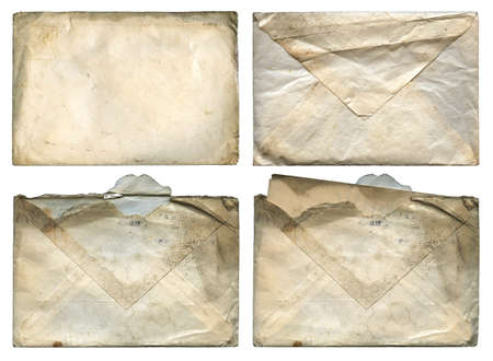 aged; antique; back; backside; background;copy; copy-space; copyspace; damaged; dirty; envelope;envelopes, front, frontside ,front-side, grunge; grungy; isolated; letter; mail; mark; note; old; page; paper; post; postal; retro; space; stain; texture; vint