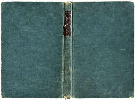 libros antiguos: Portada del libro abierto en el lienzo verde - aislados en blanco - con trazado de recorte Foto de archivo
