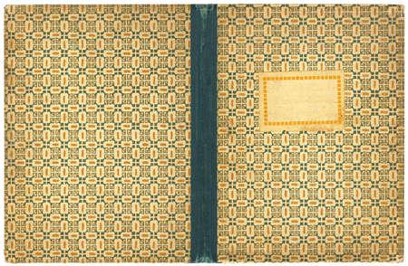 Couverture notebook ouverte avec le label vide - isol�e sur blanc - avec le trac� de d�tourage