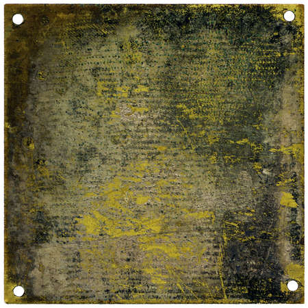 Rustic metal plate with copy space - grainy surface photo