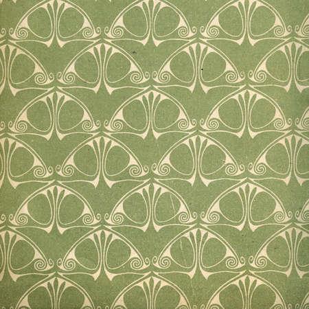 art nouveau: Usato d'epoca wallpaper - art nouveau - superficie granulosa