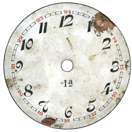 analogs: Vintage pocket watch - dial only - isolated with clipping path