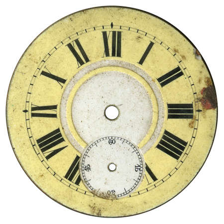 Vintage pocket watch - dial only - isolated with clipping path photo