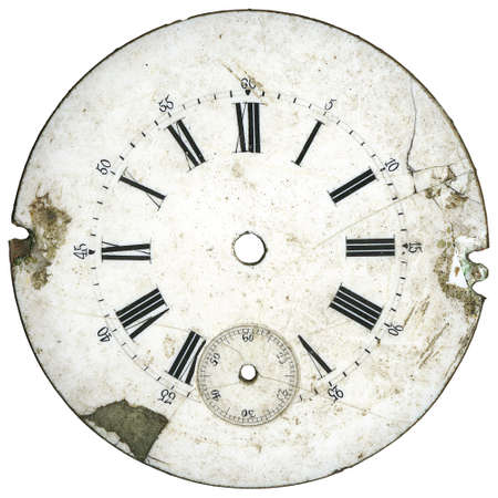dials: Vintage pocket watch - dial only - isolated with clipping path