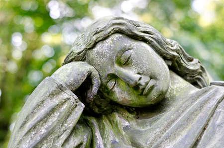 Weathered statue of an Angel - tombstone - old Prague cemetery, Czech republic, Europe Reklamní fotografie