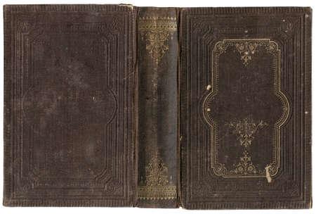 Oude open boek omslag - circa 1880 - geïsoleerd op wit - perfect in detail - XL grootte