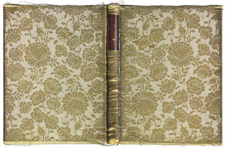 Vintage open book cover with floral pattern - circa 1905 - XL size