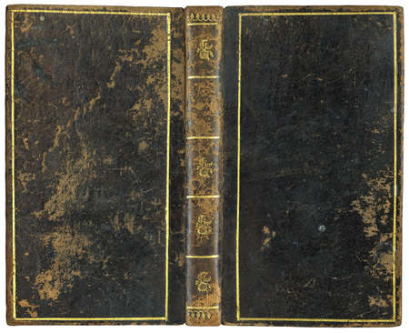 Old open book - leather cover - circa 1792 - perfect in detail! - XL size