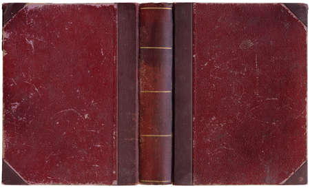 Old open book cover - circa 1900 - interesting details! - XL size Reklamní fotografie