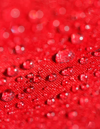 water drops on the umbrella fabric