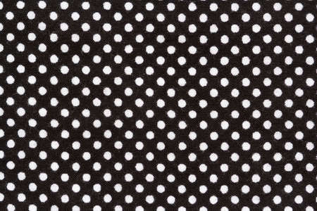 cotton fabric: black cotton fabric with white polka dots