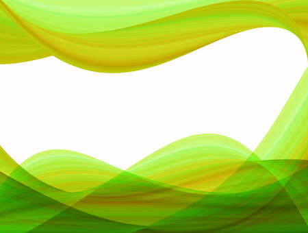 abstract waves: abstract background, yellow green waves Stock Photo