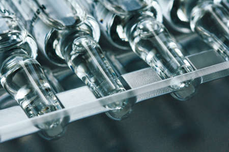 ampoules: medical ampoules close up Stock Photo