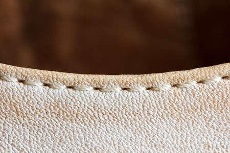 durable: durable seam on  shoe detail closeup