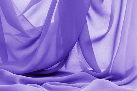 soft blue fabric drape transparent Stock Photo
