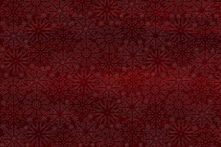 embossing: winter background with snowflakes, embossed on red paper