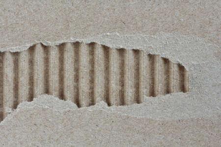 corrugated: torn corrugated cardboard texture Stock Photo