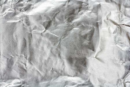 aluminum: texture of crumpled aluminum foil paper based bottom Stock Photo