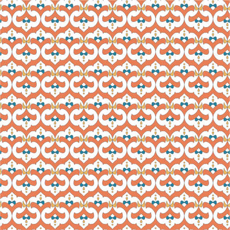 bright colored seamless pattern in Asian style