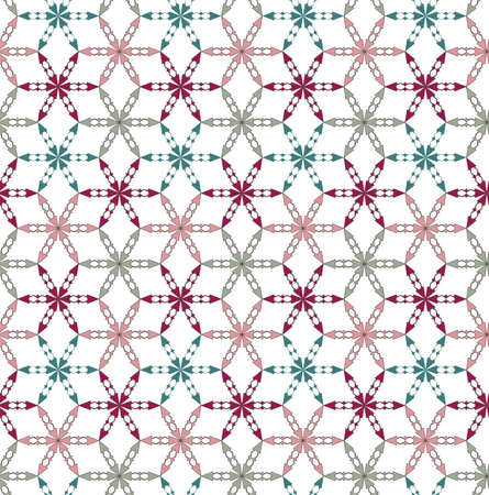 Seamless  pattern with multicolored flowers
