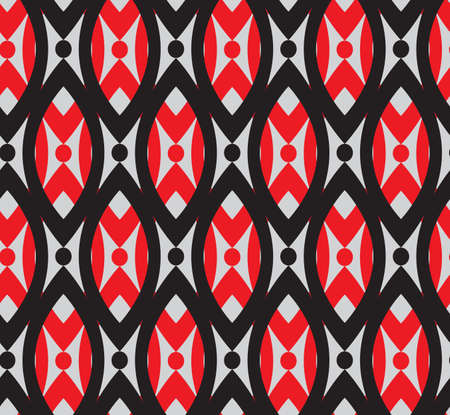 gray pattern: geometric abstract seamless vector bright pattern