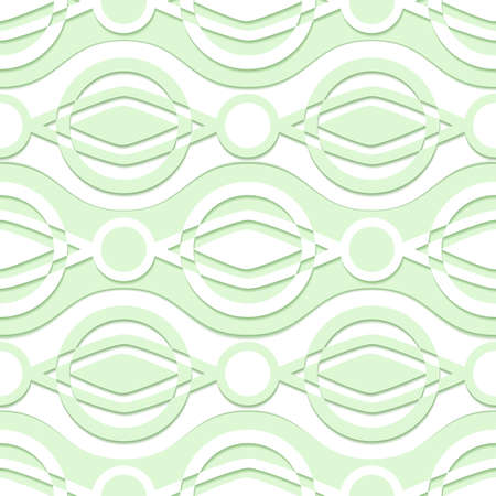rhomb: abstract geometric seamless vector pattern with circles and  diamonds