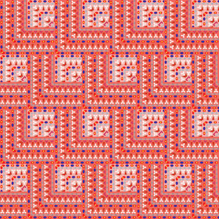 motley: Seamless bright geometric abstract pattern with motley tiles. Illustration