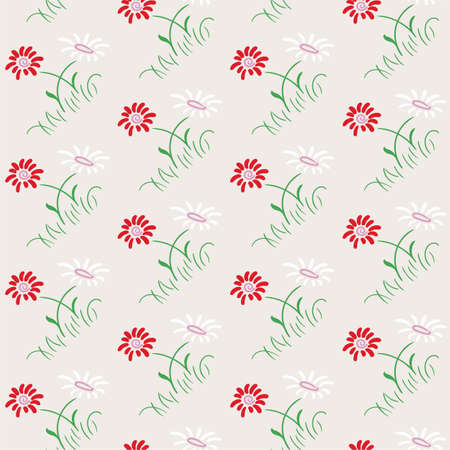 Hand drawn floral seamless pattern, delicate, spring background