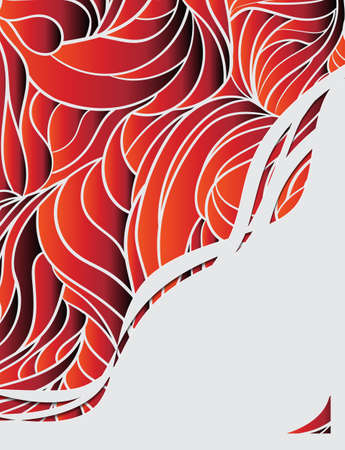 invitation card with abstract red background