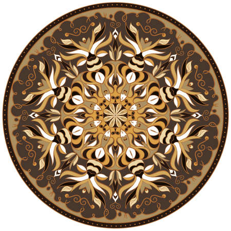 Vector circular mandala pattern, design element Illustration