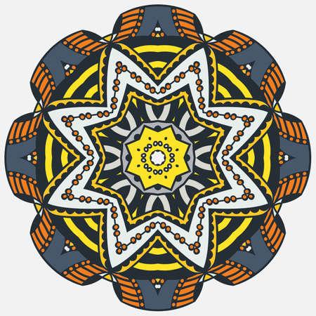 Bright circular pattern, design element