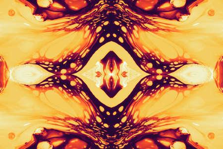 Abstracte fantasie achtergrond van een mix heldere kleurenverf