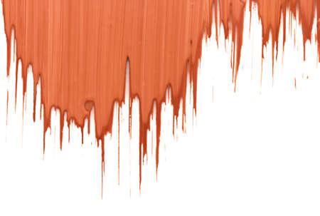 dabs: stroke orange paint on white background