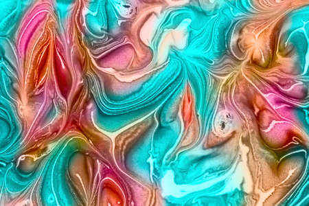 Abstract background of  mixing  colorful bright paints