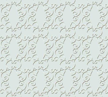Gray pattern with motif figured lattice Illusztráció