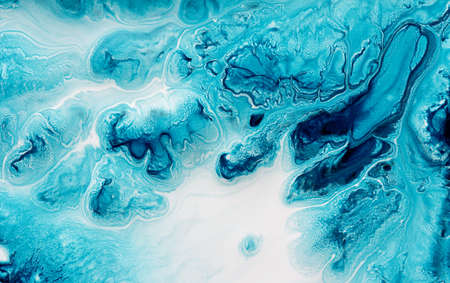 Abstract turquoise background of a mix color paints