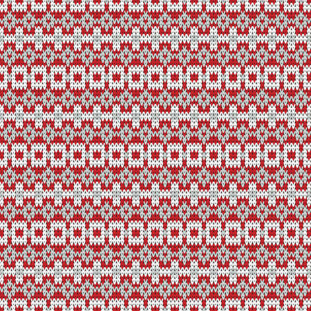 seamless knitted pattern with red horizontal stripes