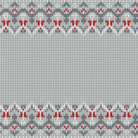 knitted seamless vector folk border Illustration