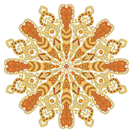 mandala, bright circular pattern
