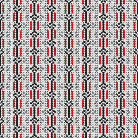 knitted seamless pattern, universal winter background Stock Illustratie