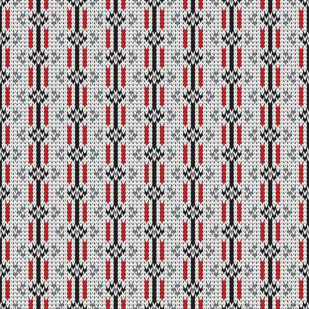 knitted seamless pattern, universal winter background Illustration
